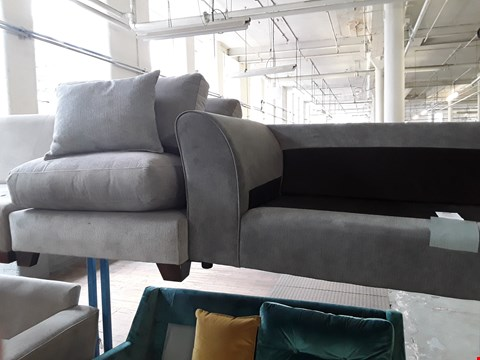 Lot 58 TWO GREY FABRIC SECTIONS, 1 SINGLE, 1 TWO SEATER.