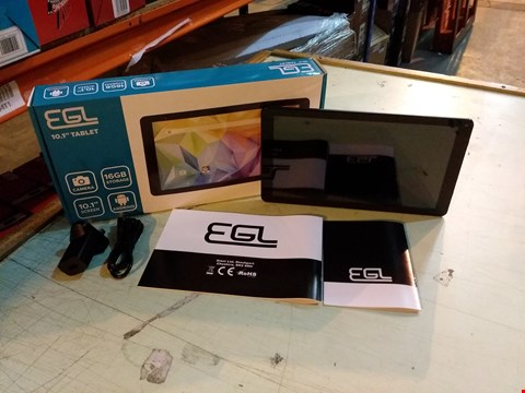"""Lot 6111 BOXED EGL 10.1"""" 1GB RAM, 16GB STORAGE ANDROID TABLET - SILVER"""