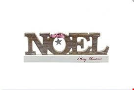 Lot 1045 BRAND NEW BOXED WOODEN NOEL STANDING SIGN (1 BOX) RRP £19.99