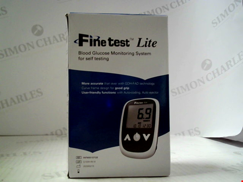 Lot 5592 FINE TEST LITE BLOOD GLUCOSE MONITORING SYSTEM