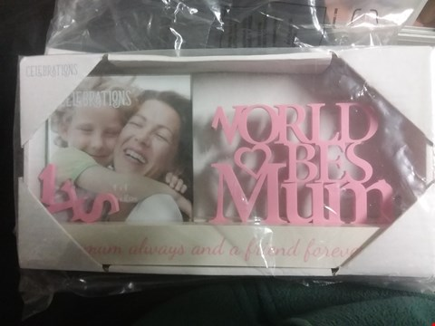 Lot 7152 CELEBRATIONS PHOTO FRAME WORLDS BEST MUM