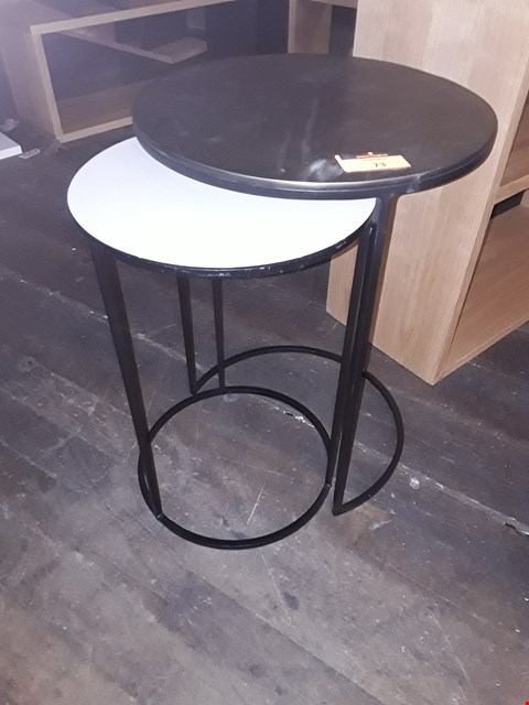 Lot 73 DESIGNER TERANCE CONRAN FERA COLLECTION ROUND NEST OF TWO TABLES RRP £329