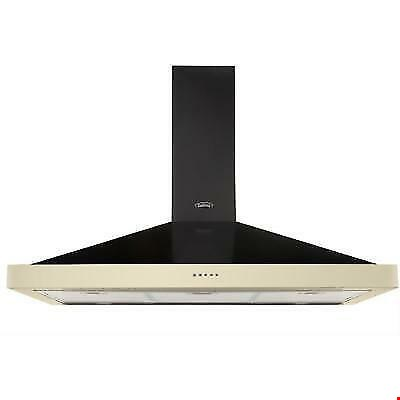 Lot 12006 BELLING CLASSIC 100CHIM 100CM WIDE CHIMNEY COOKER HOOD - HOT JALAPENO