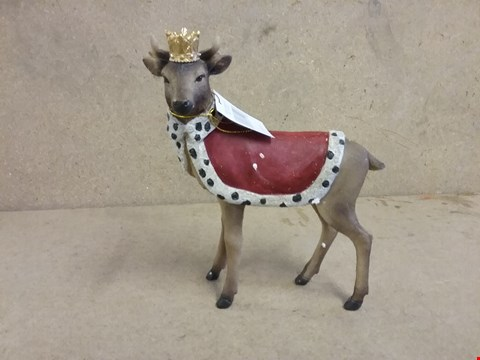 Lot 11037 BOXED GRADE 1 GISELA RESIN REGAL STAG WITH CROWN  RRP £21.99