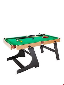 Lot 227 BOXED 6FT FOLDING SNOOKER AND POOL TABLE RRP £250