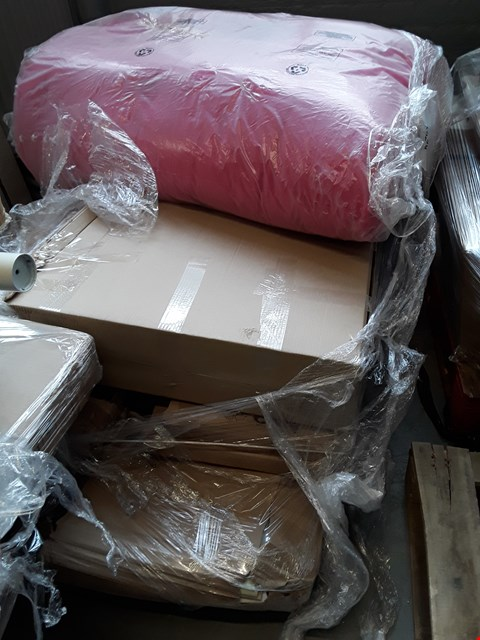 Lot 2480 PALLET OF ASSORTED FLAT PACK FURNITURE PARTS TO INCLUDE BED PARTS ETC