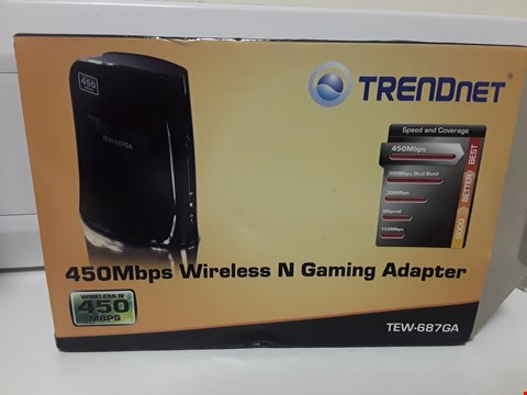 Lot 1429 BOXED TRENDNET 450 Mbps WIRELESS N GAMING ADAPTER TEW-687GA