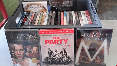Lot 9034 BOX OF APPROXIMATELY 28 ASSORTED DVDS INCLUDING THE TUDORS, THE PARTY, THE MUMMY TRILOGY ETC