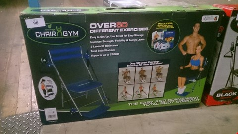 Lot 98 BOXED CHAIR GYM WITH 50 GREAT EXCERCISESAS SEEN ON TV