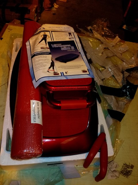 Lot 6085 VIBRAPOWER SLIM 3 WITH ADD-ON SEAT AND EQUIPMENT MAT - RED