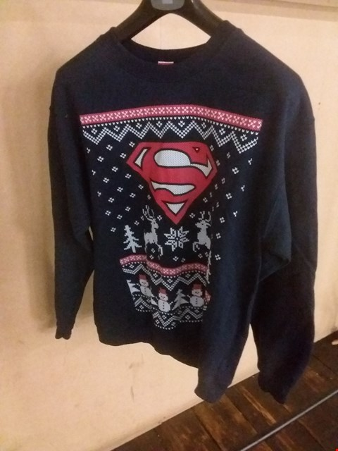 Lot 5100 BRAND NEW BAGGED LARGE SUPERMAN CHRISTMAS SWEATSHIRT