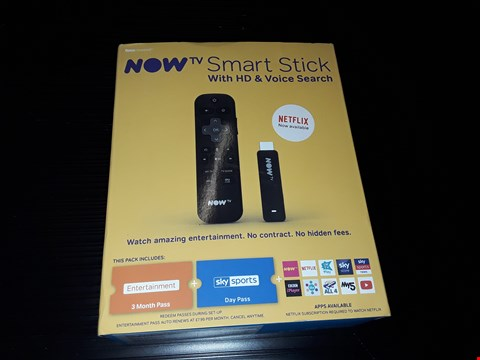 Lot 88 BOXED NOW TV SMART STICK