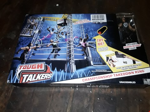 Lot 4054 BOXED WWE TOUGH TALKERS TAKE DOWN RING (1 BOX) RRP £82.99