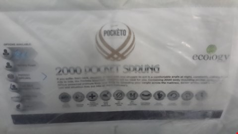 Lot 26 QUALITY BAGGED 5FT SAREER POCKÈTO 2000 POCKET SPRUNG MATTRESS