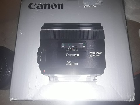 Lot 20 BOXED CANNON EF 35mm f/2 IS USM CAMERA LENS
