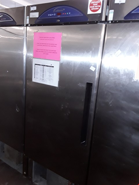 Lot 79 COMMERCIAL STAINLESS STEEL WILLIAMS SINGLE DOOR TALL FRIDGE