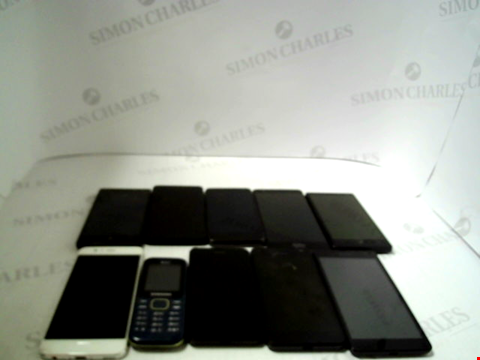 Lot 3381 LOT OF 10 ASSORTED SMARTPHONES; VARIOUS MAKES AND GRADES