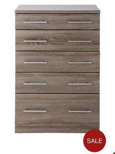 Lot 437 BOXED COLOGNE ESPRESSO 5-DRAWER WIDE CHEST (1 BOX) RRP £119