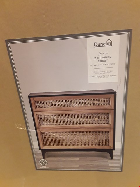 Lot 558 BOXED FRANCO 3-DRAWER CHEST