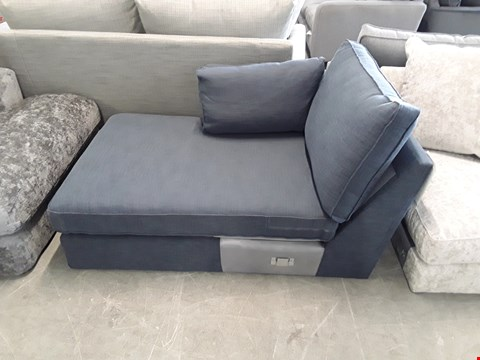Lot 50 QUALITY BRITISH DESIGNER BLUE FABRIC SOFA SECTION