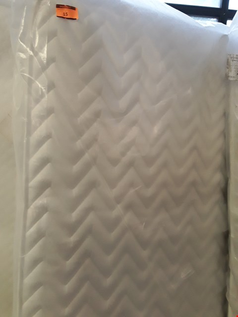 Lot 15 DESIGNER BAGGED 135CM AIRSPRUNG MICRO QUILT MATTRESS