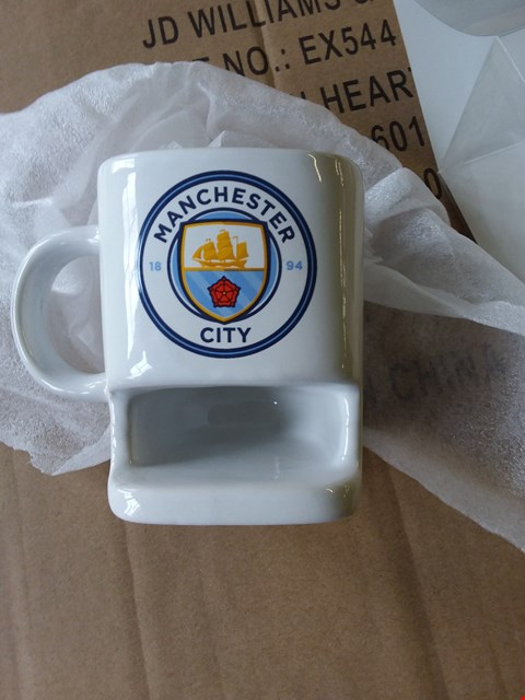 Lot 50 LOT OF 3 BOXES OF MANCHESTER CITY MUGS APOROX 80