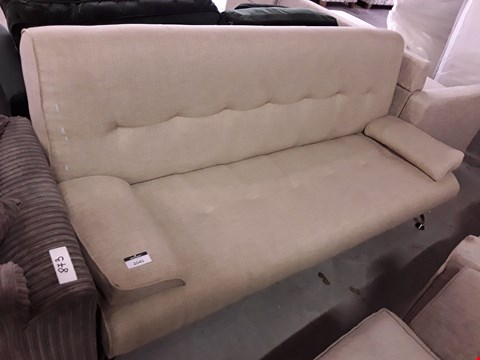 Lot 2041 DESIGNER NATURAL FABRIC CLICK CLACK SOFABED