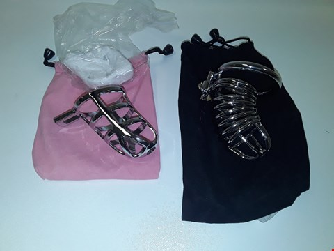 Lot 10155 2 ASSORTED CHASTITY CAGES