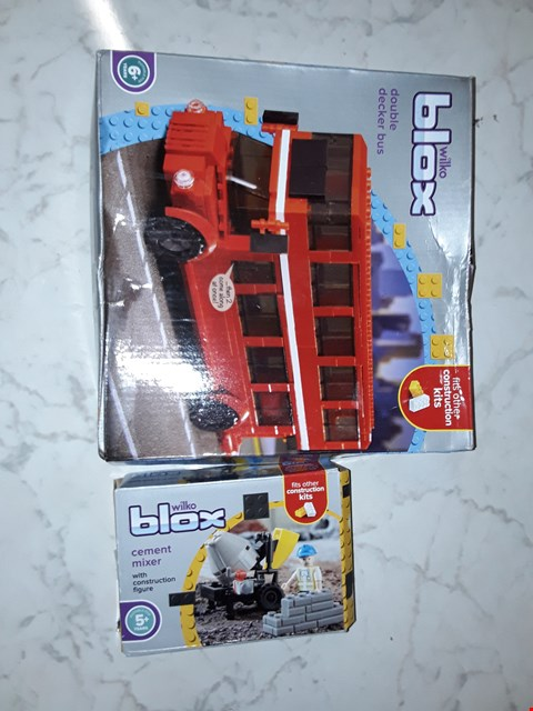 Lot 239 LOT OF 2 ITEMS TO INCLUDE WILKO BLOX DOUBLE DECKER BUS AND WILKO BLOX CEMENT MIXER