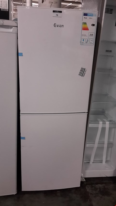 Lot 78 SWAN SR9081W WHITE FRIDGE FREEZER  RRP £229