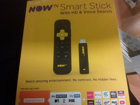 Lot 7149 NOW TV SMART STICK WITH HD AND VOICE SEARCH RRP £24.99