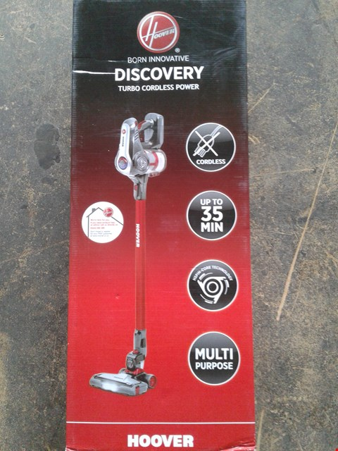 Lot 211 LOT OF 3 HOOVER DISCOVERY RED CORDLESS VACUUM HOOVERS