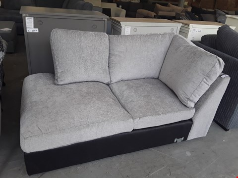 Lot 50 DESIGNER SILVER GREY FABRIC SOFA SECTION