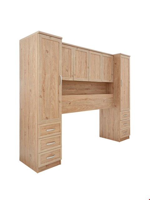 Lot 9041 BOXED BRAND NEW CAMBERLEY OAK-EFFECT OVERBED UNIT (3 BOXES) RRP £349.00