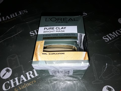 Lot 2058 L'OREAL PARIS PURE CLAY BRIGHT FACE MASK  RRP £10.99