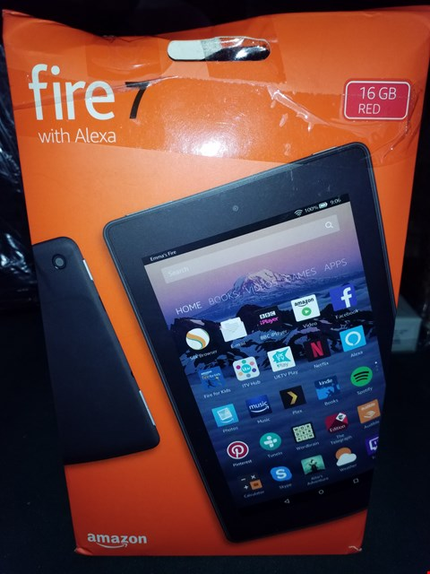 "Lot 18058 FIRE 7 "" TABLET WITH ALEXIA RED  RRP £74.99"