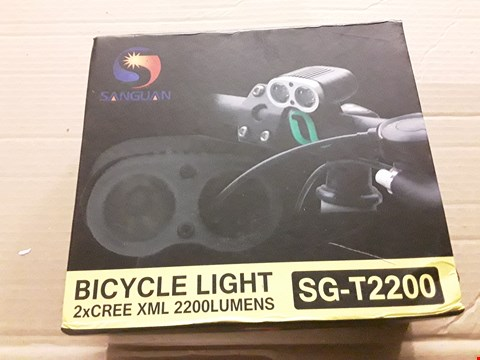 Lot 8493 SANGUAN SG-T2200 2200 LUMENS BICYCLE LIGHTS