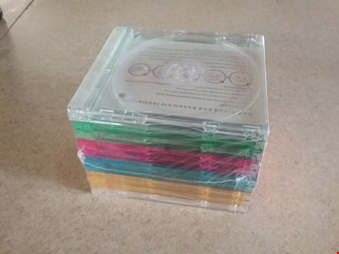 Lot 3037 5 BOXS OF APPROXIMATELY 500 BRAND NEW INTERLOCKING JEWEL CASES WITH SLIDE OUT TRAY