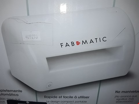Lot 3463 FABMATIC MACHINE FULLY AUTOMATIC EMBOSSER AND DIE CUTTER