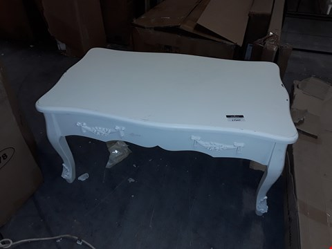 Lot 17547 DESIGNER WHITE COFFEE TABLE