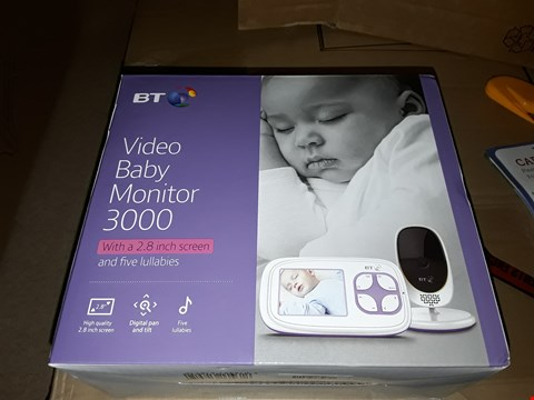 Lot 1507 BT VIDEO BABY MONITOR 3000 RRP £100