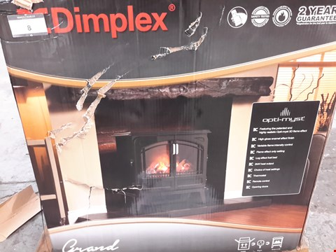Lot 8 DIMPLEX GRAND NOIR ELECTRIC STOVE HEATER WITH 3D OPTI-MYST FLAME EFFECT