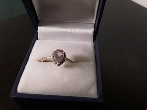 Lot 1382 ROCKS & CO HEART SHAPED SOLITAIRE RING