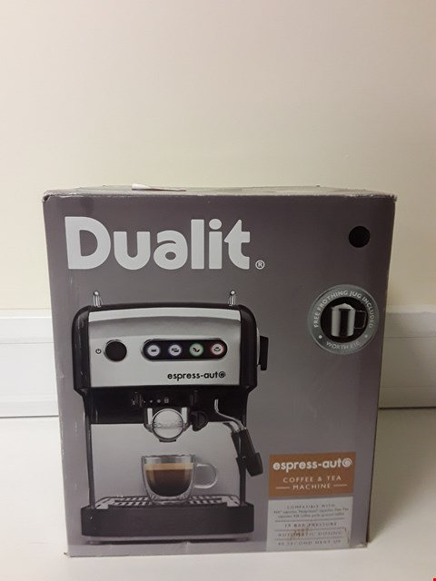 Lot 6076 BOXED DUALIT ESPRESS-AUT COFFEE AND TEA MACHINE