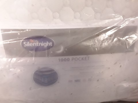 Lot 103 DESIGNER BAGGED 135CM SILENTNIGHT MIRAPOCKET 1000 POCKET MATTRESS