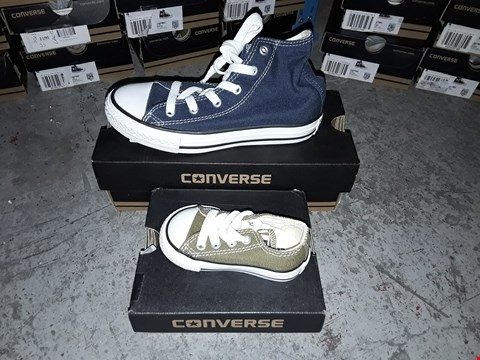 Lot 2053 LOT OF 6 ASSORTED DESIGNER BRAND NEW CONVERSE TRAINERS ASSORTED SIZES  RRP £120