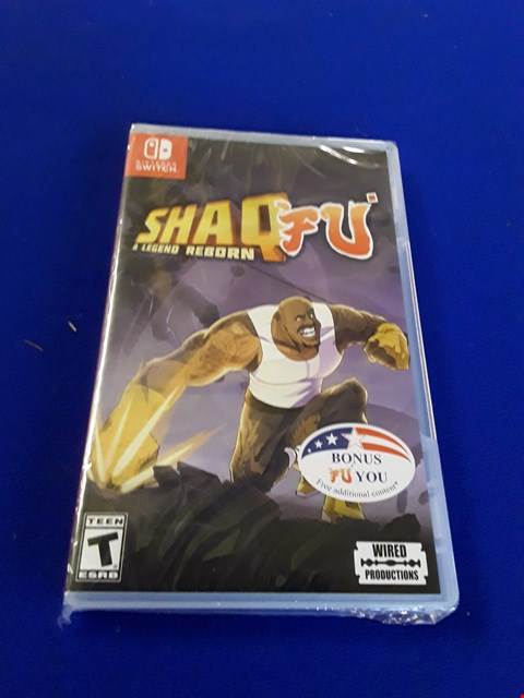 Lot 7604 SHAQ FU: A LEGEND REBORN NINTENDO SWITCH GAME