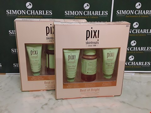 Lot 12060 LOT OF 2 PIXI STYLE BEST OF BRIGHT 3PC BOXSETS
