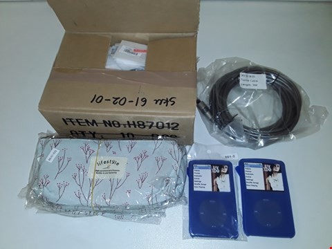 Lot 1097 LARGE QUANTITY OF ASSORTED ITEMS TO INCLUDE APPLE WATCH TEMPERED SCREEN PROTECTORS, 5M TOSLINK CABLES AND LIFESTYLE CASES