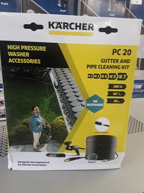 Lot 81 KARCHER 20PC GUTTER & PIPE CLEANING KIT  RRP £70.00